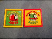 My First Thomas Board books, Adventures of James and Percy £2 for both