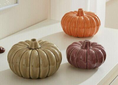 Deko Kürbis Herbstfarben, 3-er Set, Halloween, Kürbis, Pumpkin, Herbst