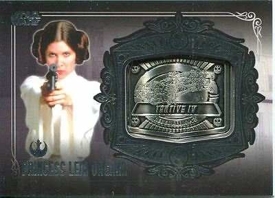 Star Wars Galactic Files Series 2 Silver Medallion Card MD-9 Princess Leia