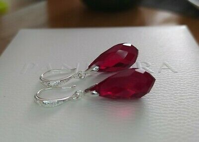 Unwanted Gift Swarovski Crystal Elements ruby red Earrings New