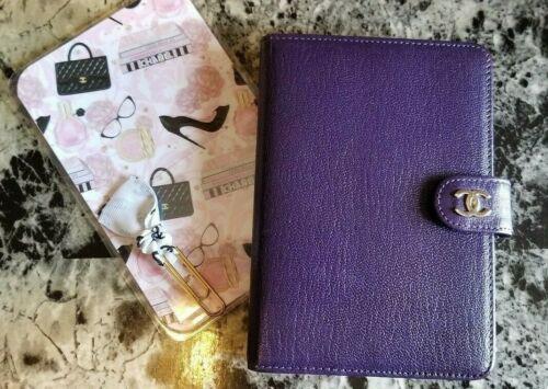 authentic Chanel purple PM agenda, planner
