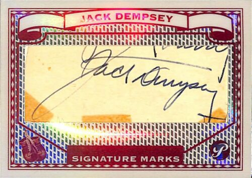 Jack Dempsey Cut Signature: 2005 Topps Pristine Legends Signature Marks Card