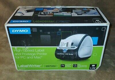 Dymo Labelwriter 450 Turbo Label Thermal Printer Black 1750283 W Box T19