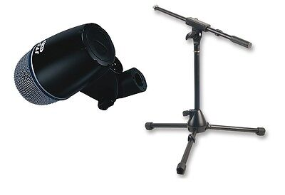 JTS TX2 Kick / Bass Drum Microphone. With Mini Boom Mic Stand & 4.5M XLR Cable.