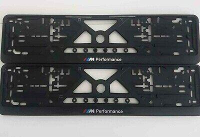 License Plate Frame Holder (2x European License Number Plate Frame Holder For BMW M PERFORMANCE small design)