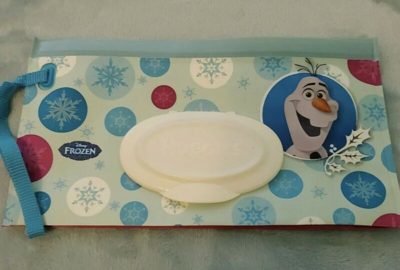 1 Disney Olaf Huggies Natural Care Refillable Clutch & Clean Wipes Not Included