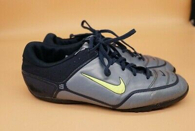 NIKE FIRST TOUCH II INDOOR SOCCER SHOES (OBSIDIAN/VOLT-OXIDE) SZ US 10.5