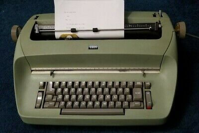 Vintage Ibm Selectric Typewriter Compact Model 1 Rare Green Mint