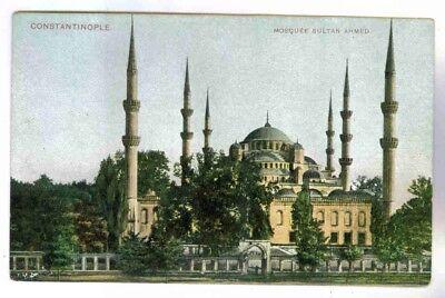 (MOSQUE SULTAN AHMED, CONSTANTINOPLE(ISTANBUL,TURKEY) POSTCARD CIRCA 1910-20)