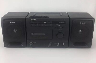 Sony CFS-1025 AM/FM Cassette BoomBox w/ Detachable speakers Retro VTG Tested - Retro Boombox