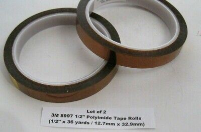 Lot Of 2 3m 8997 12 Polyimide Tape Rolls 12 X 36 Yards 12.7mm X 32.9mm
