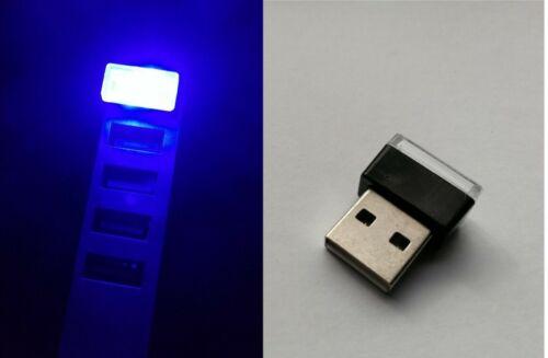 💡Mini LED USB Stick LICHT Leuchte LAMPE 0,3 Watt Auto Nachtlicht BLAU💡
