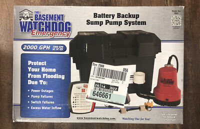 Basement Watchdog Bwe - Emergency Backup Sump Pump 1000 Gph 10