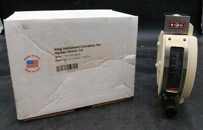New King 7100 Series Air Rotameter 7101341000a Stainless Steel Ss 55 Scfh Nib
