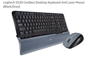 Logitech S520 Cordless Keyboard And Laser Mouse