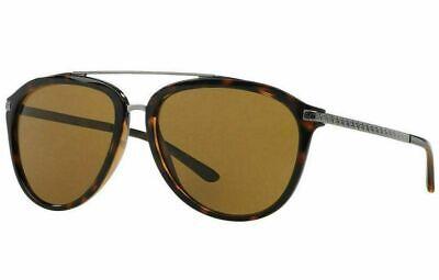 VERSACE Men's Pilot Sunglasses VE4299 Silver Havana Brown Frame RRP £189