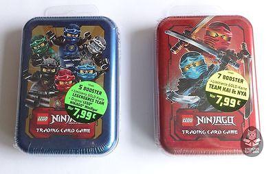 LEGO NINJAGO Serie 2 MINI TIN BOX A + B, Trading Card Game, LE 9 + LE 10