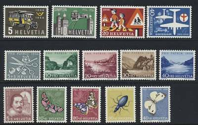 Schweiz Nr. 623-636 postfrisch / **, Jahrgang 1956 komplett (44237)