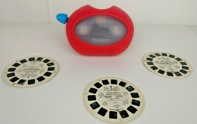 Vintage 1998 View master Toy Classic Red Round Works Includes 3 Reels Working ()