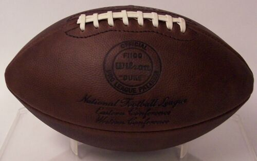 OFFICIAL WILSON LEATHER NFL THROWBACK GAME FOOTBALL F1250 DUKE