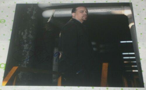 ICE T SIGNED LAW & ORDER SVU SERIOUS PROMO 8X10 PHOTO AUTO COA NEW JACK CITY