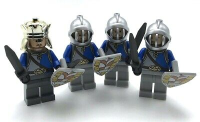Lego 4 New Kingdoms Castle Crown Knights Minifigures and King Shields & Swords