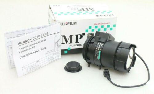 """FUJINON DV10X8SR4A-SA1L 1/2"""" 8-80MM F1.6 DC Vari-Focal C-Mount Lens 3MP"""