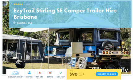 4 Berth Camper Trailer FOR HIRE in Capalaba from $90/night
