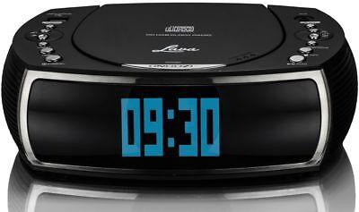 Lava BedsideCD Dual Alarm Function DAB+ & FM Radio & CD, USB Charge Port – Black