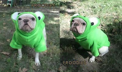 French Bulldog Boston Terrier Pug Dog Froodies Hoodies Cosplay Costume Frog Dog