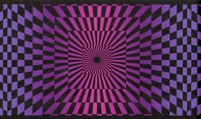Funky Borders - Black & Pink Funky Optic Wallpaper Border 60's Check Illusion Retro Wall Decor