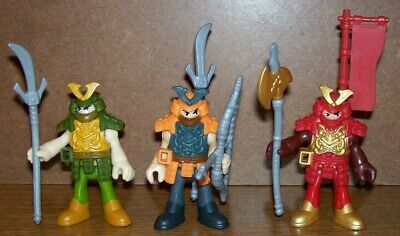 FISHER PRICE IMAGINEXT KNIGHTS - 3 NINJAS with WEAPONS