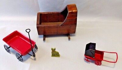 Nursery Miniatures Baby & Child's Room Dollhouse Accessories Lot (4) pieces (Wholesale Childrens Accessories)