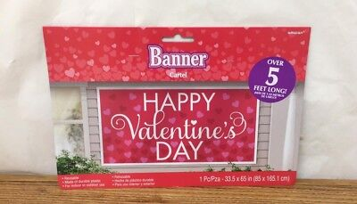 Valentine's Day Large Horizontal Greeting Banner Wall Decoration-2 PACK
