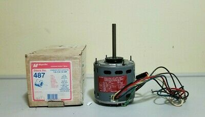 Magnetek 487 Motor Fits Fasco D703 208-230v 1075 Rpm 12-13- 14 Hp 3 Speed 1ph