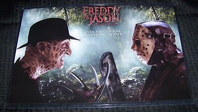 Freddy Vs Jason Voorhees Krueger 11X17 Movie Poster Teaser Landscape