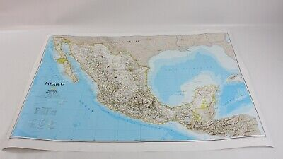National Geographic Mexico Classic Wall Map (34.5 x 22.5 inches)