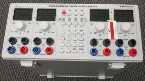HAMEG HM7044 HM7044-2 4 Output Programmable Power Supply Light Color