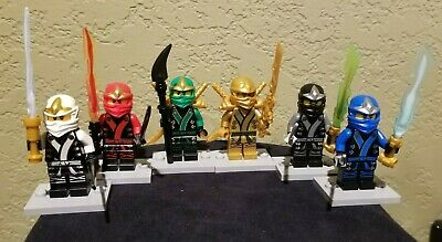 Lego Ninjago lot of 6 Kimono Minifigures- Lloyd,Cole,Zane,Kai,Jay,Green Ninja