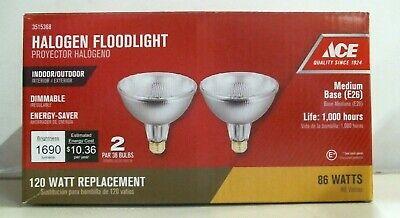 Ace 3515368, Halogen Floodlights, 86W, Par 38 Light Bulbs, 2 Pack, FREE SHIP  Ace Halogen Par38 Floodlight Bulb