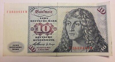 Billets, Allemagne, 10 Deutsche Mark, type 1960 Deutschland