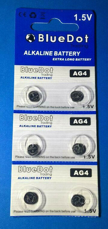 1 - 6pack New AG4 377A 377 LR626 SR626SW SR66 G4 376 Card 1.