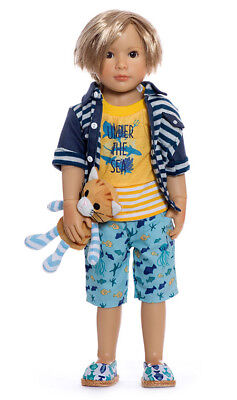 """Lukas, 18"""" Vinyl Jointed Doll by Kidz 'n' Cats"""