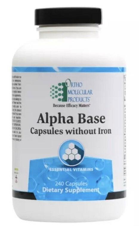Ortho Molecular Alpha Base without Iron 240 Capsules