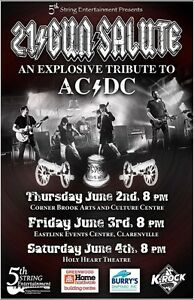 AC/DC Tribute 21 Gun Salute, Pair of tix under cost. Holy Heart