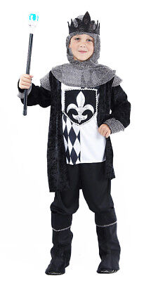 Alice In Wonderland Knight Costume (Boys Tudor Medieval Knight Costume King Alice in Wonderland Outfit NEW)