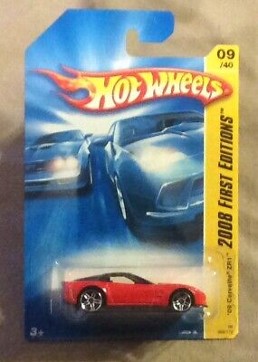 Hot Wheels 2008 First Edition 2009 Corvette ZR1 mint on card