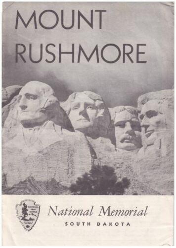 Vintage 1958 Mount Rushmore Brochure - National Park Service Publication