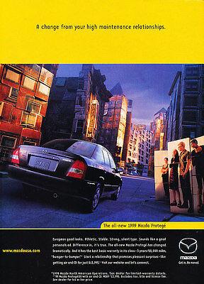 1999 Mazda Protege - Classic Vintage Advertisement Ad H02