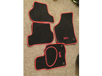 Golf GTI Black and Red floor car mats